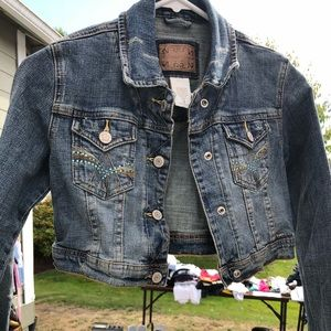 Limited Too Cropped Jean Jacket